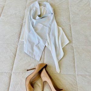 ✨ Helmut Lang Asymmetrical White Leather Vest